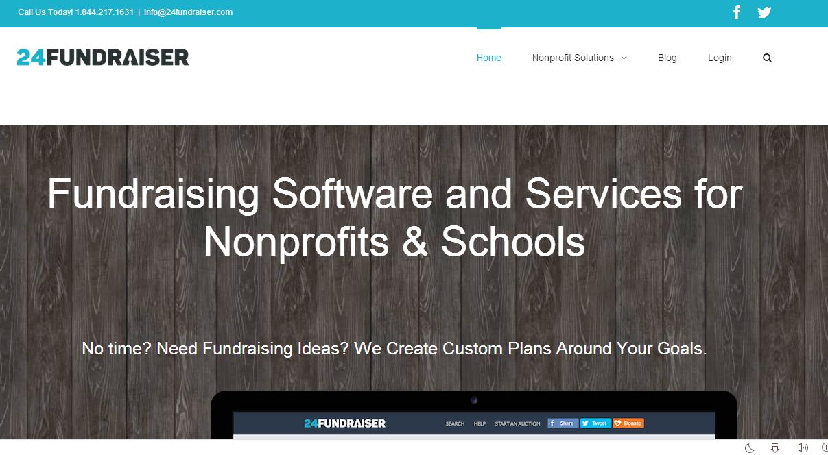 24fundraiser Homepage