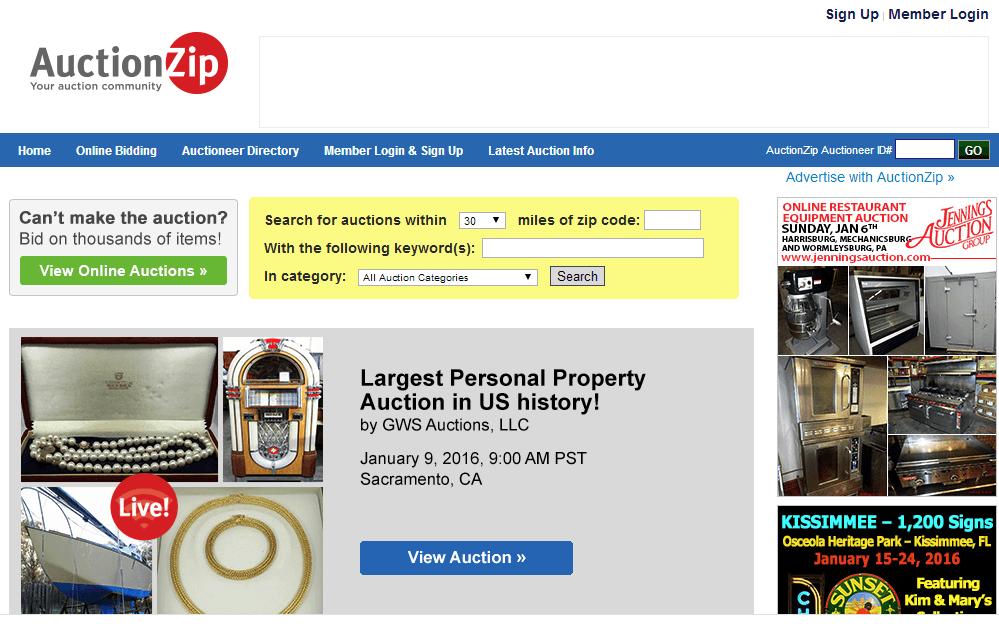 online-auctions-AuctionZip-website