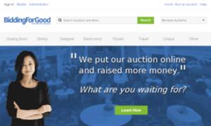 BiddingForGood Homepage
