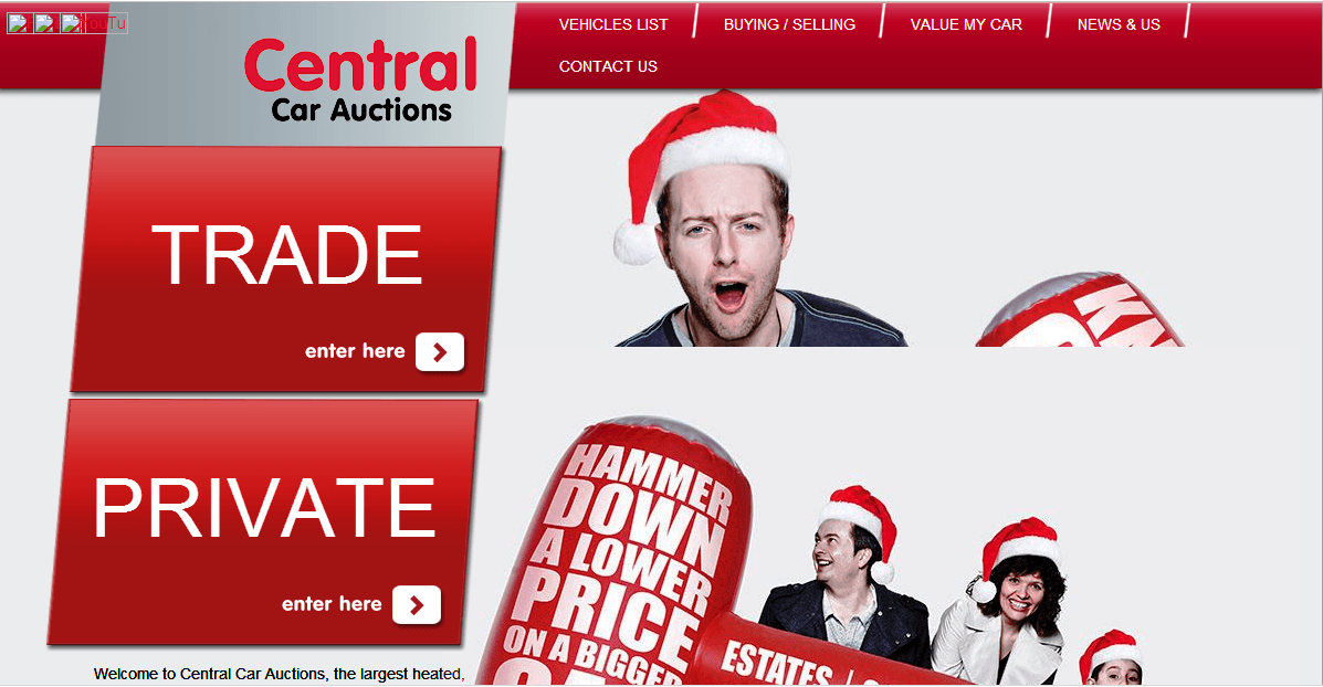 Central Car Auctions Homepage