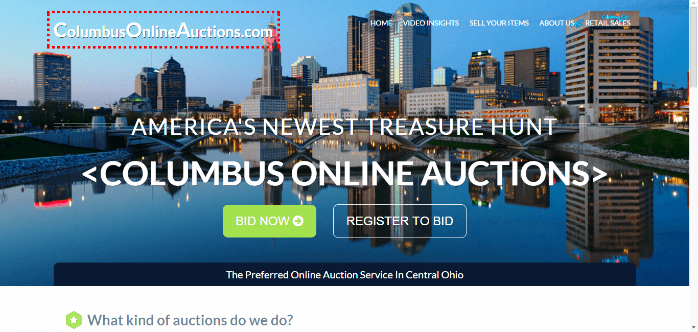 Columbus Online Auctions Homepage