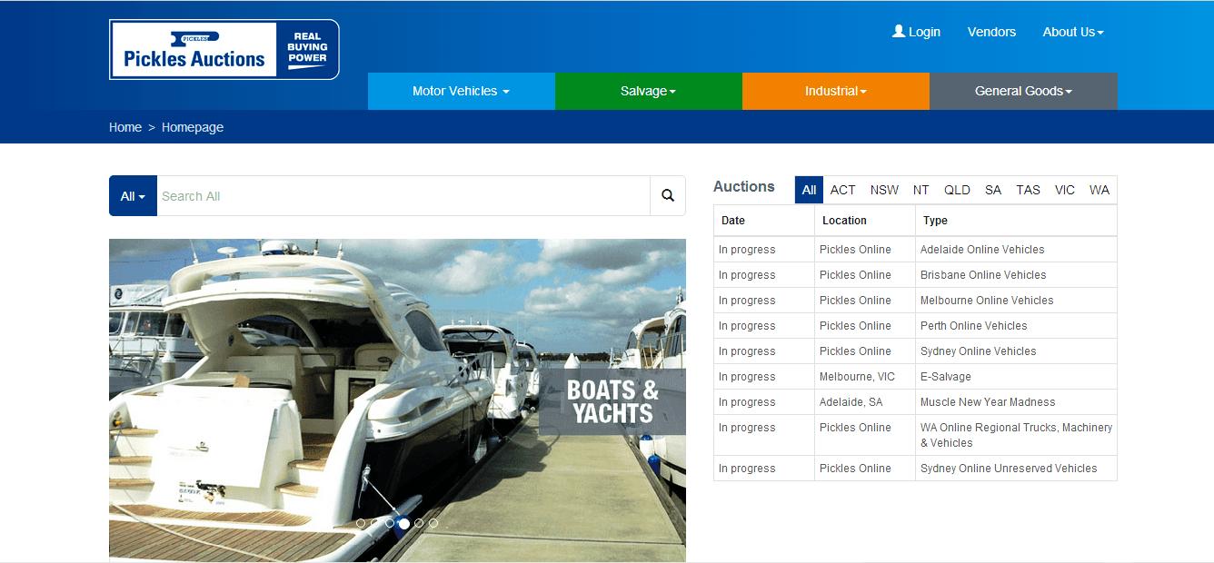 Online-auctions-Pickles-auctions-website