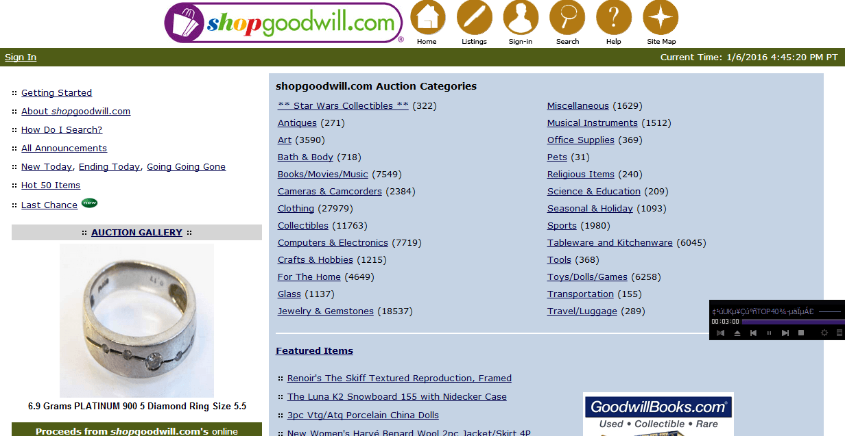 Top 70 Best Online Auction Sites | Charity Auctions Today Goodwill Auction Listings