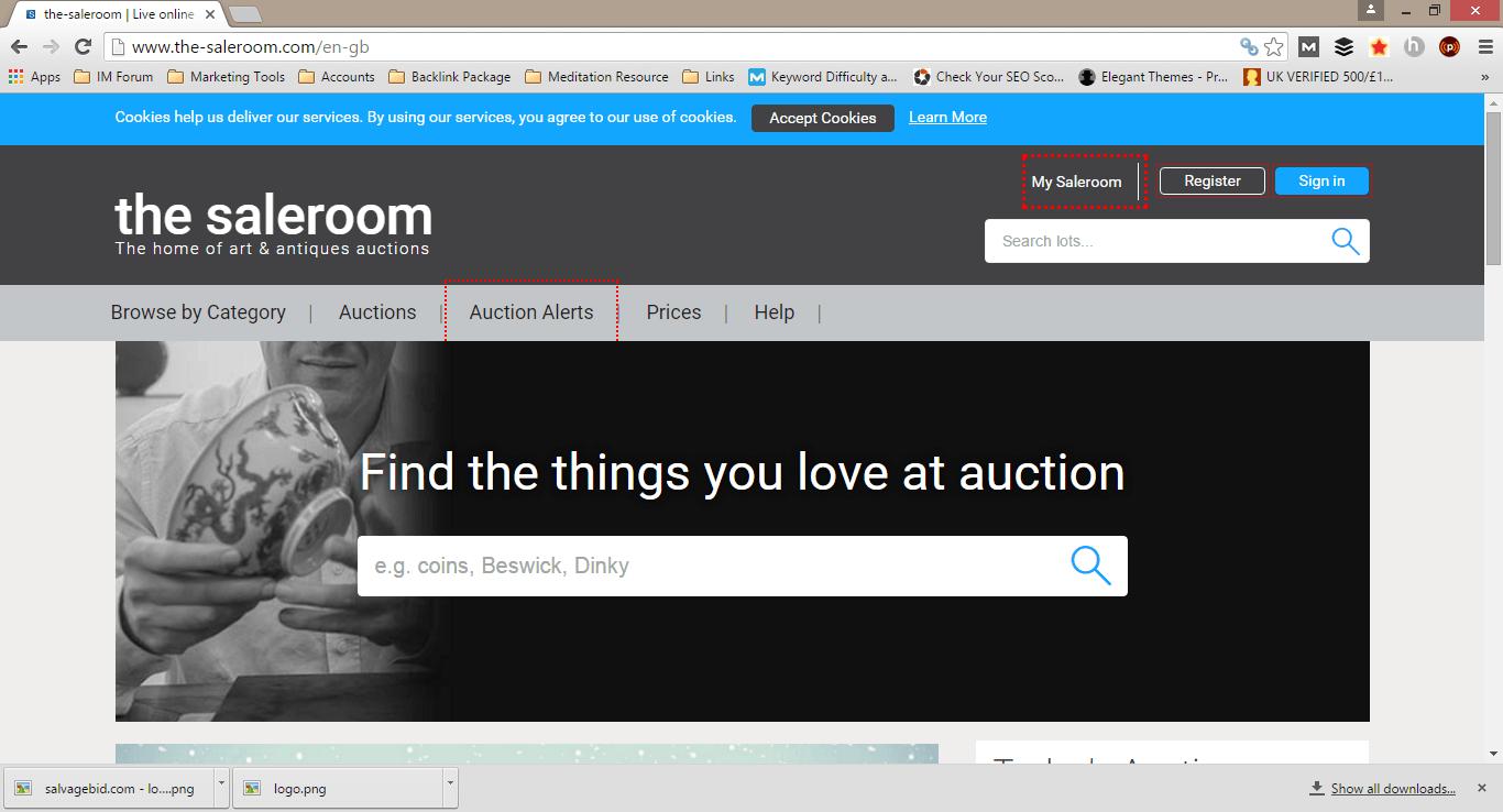 thesaleroom Homepage