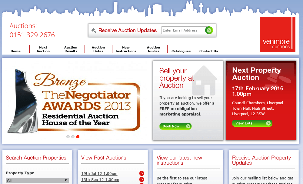 Ven More Auctions Homepage