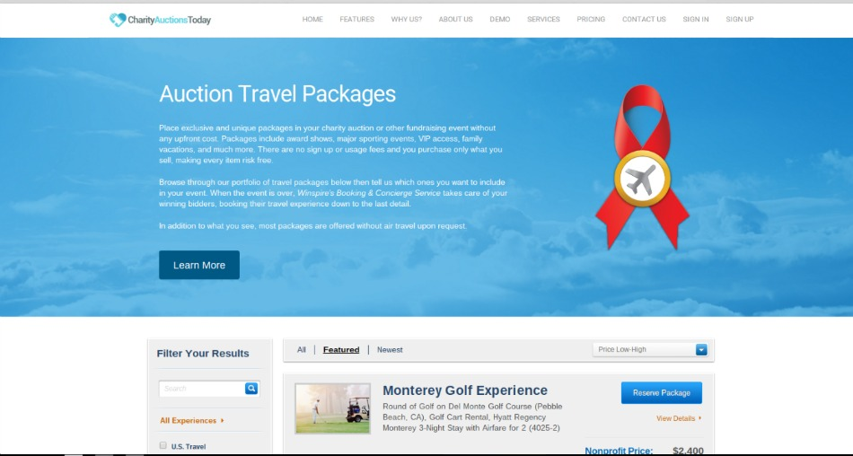Auction Travel Packages