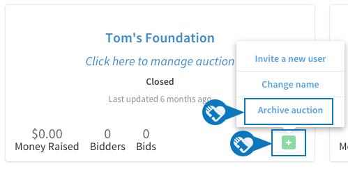 Delete an auction 1
