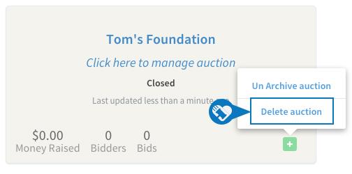 Delete an auction2