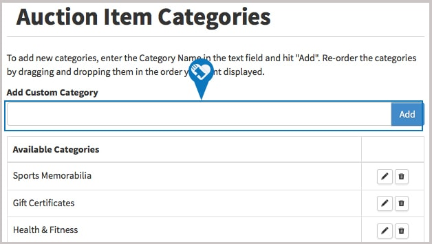 How do I create add or reorder item categories2