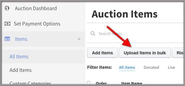 upload items in bulk