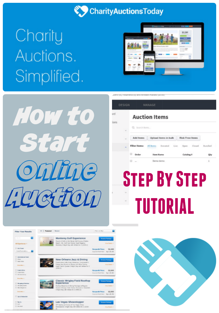 how to start an online auction tutorial