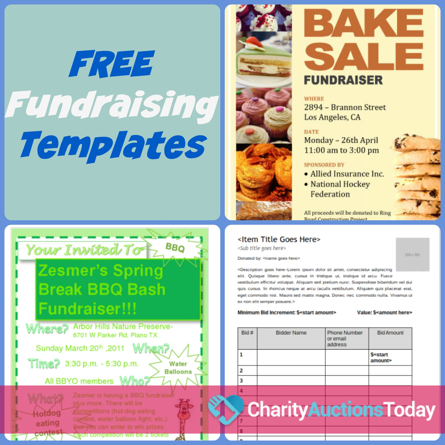 free printable fundraiser flyer templates
