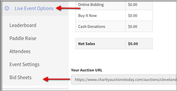 Charity Auctions Today Bid Sheets