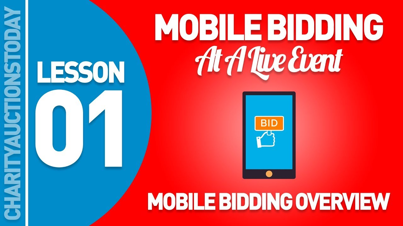 Mobile Bidding At A Live Event Lesson 1