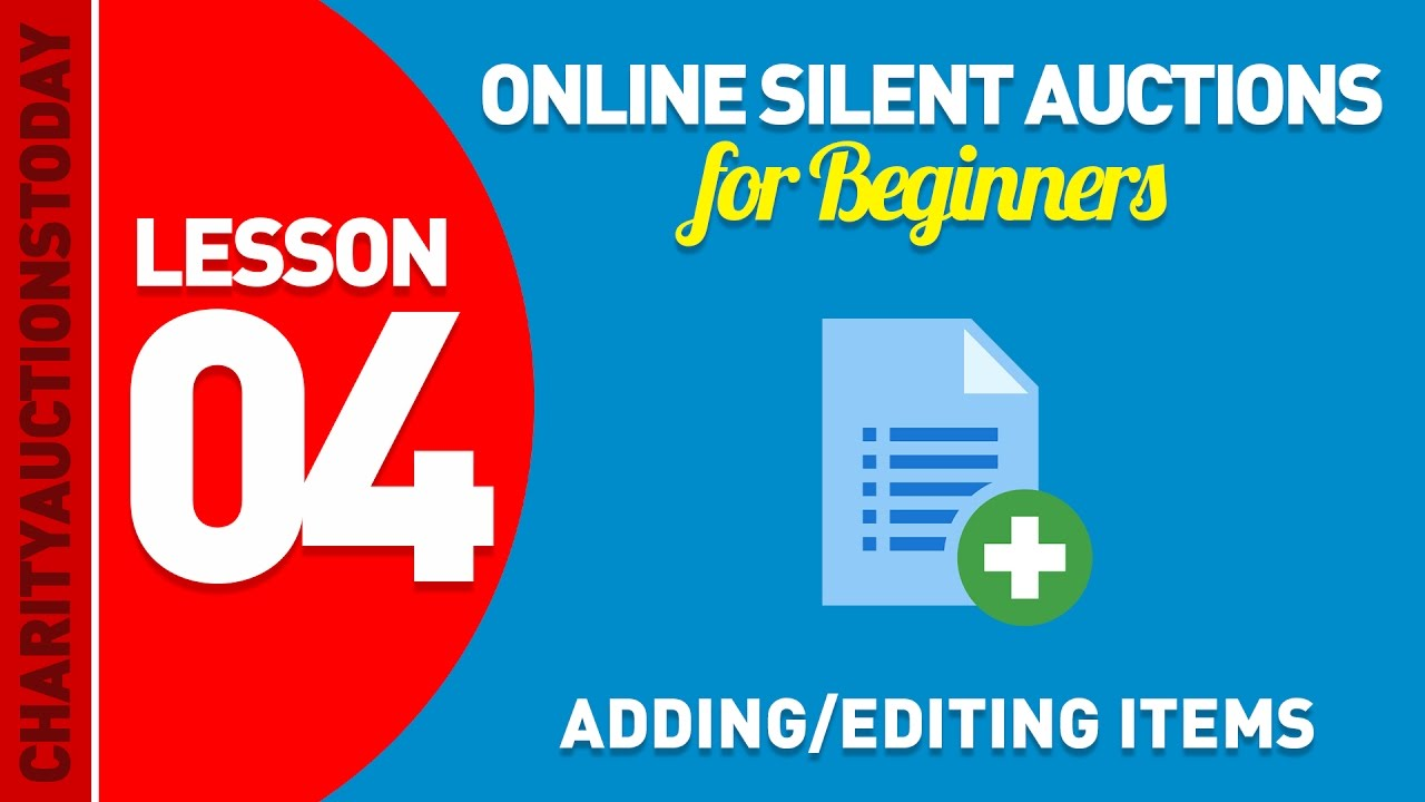 Adding and Editing Items