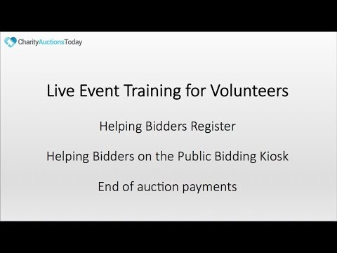 Live Event Volunteer Training