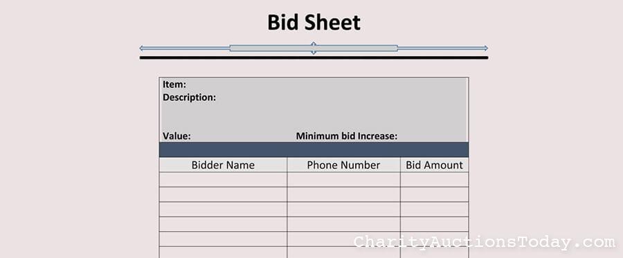 bid sheet