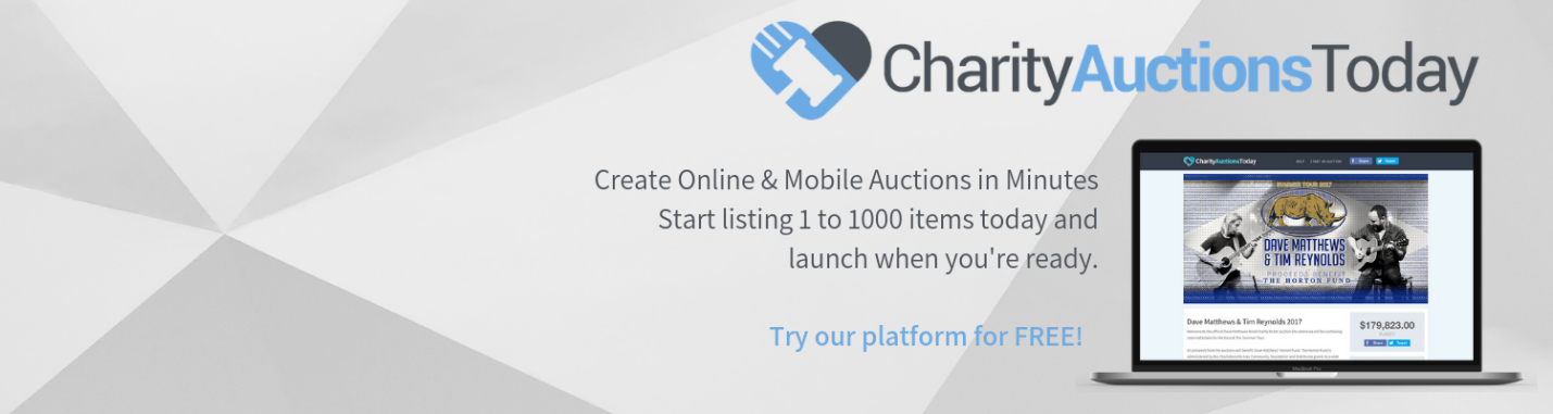 charity auctions today software