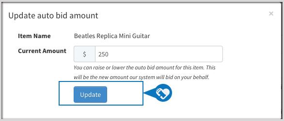 Update or remove my Auto Bid2