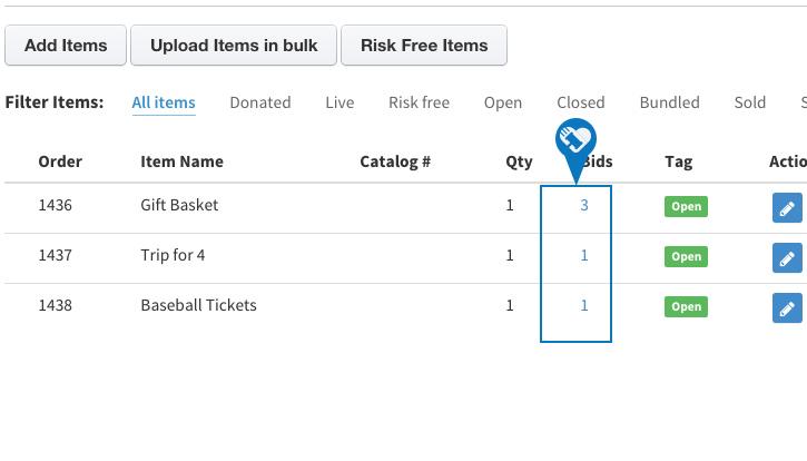 Cancel or remove a bid4