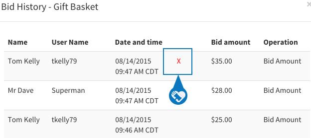 Cancel or remove a bid5