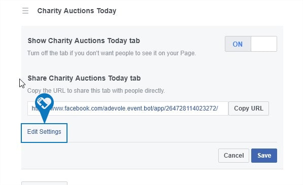 How to add my auction to a Facebook Page9