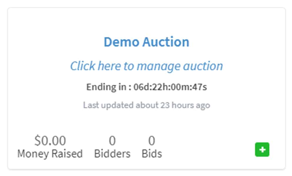 Set your Fundraising Goal for your Auction2