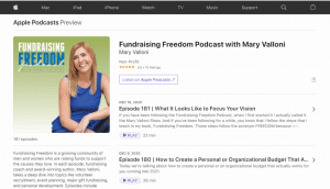 fundraising-ideas-best-fundraising-podcasts-fundraising-freedom-with-mary-valloni