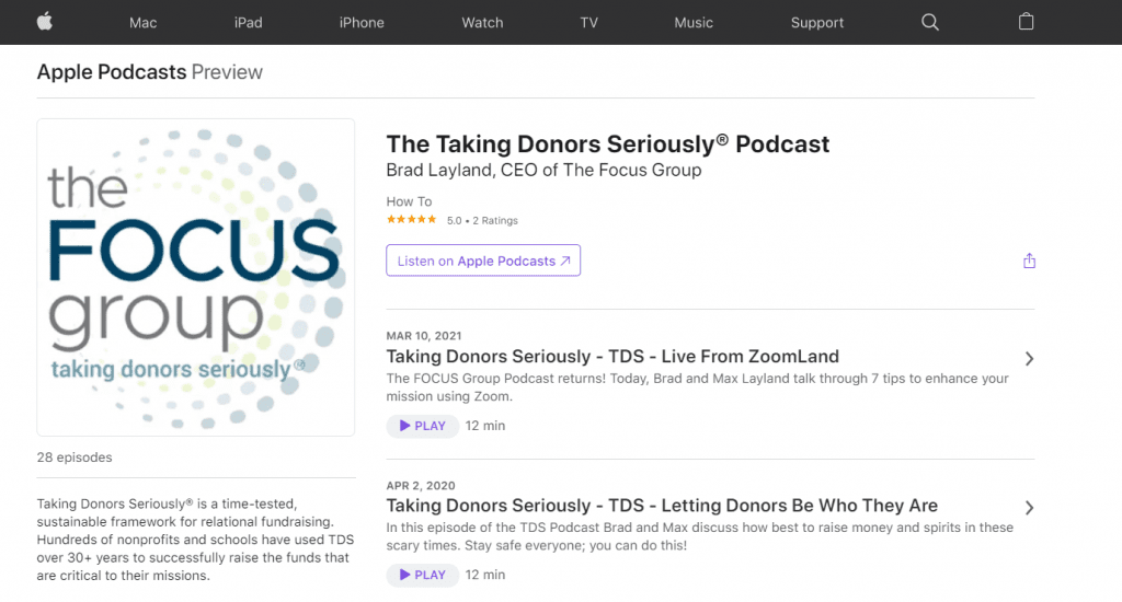 best-fundraising-podcasts-snippet-taking-donors-seriously